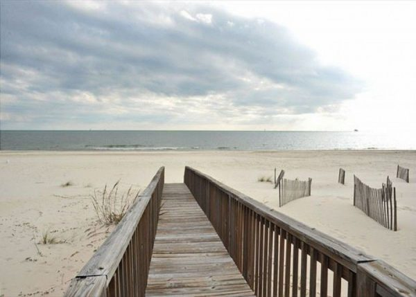 Boardwalk view from Gulf Shores vacation rental
