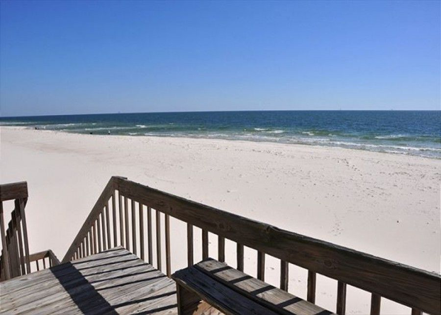 Ocean view from Fort Morgan vacation rental