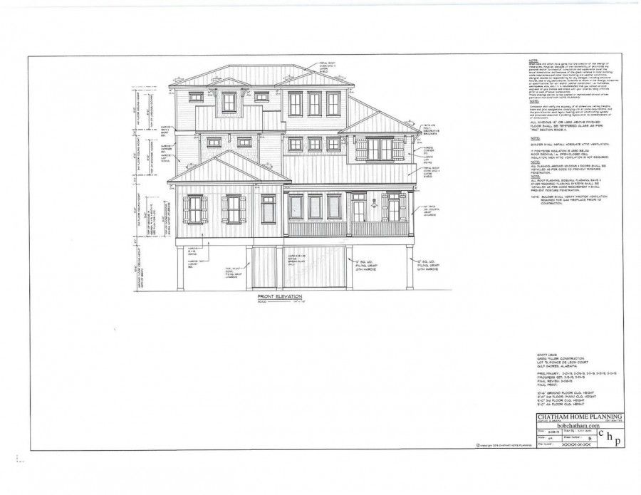 Blueprint of vacation rental on Gulf Shores