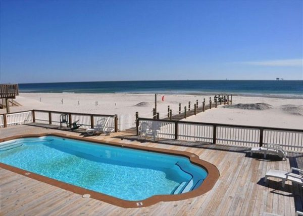 Margarittaville West vacation rental gives you direct access to the beach.