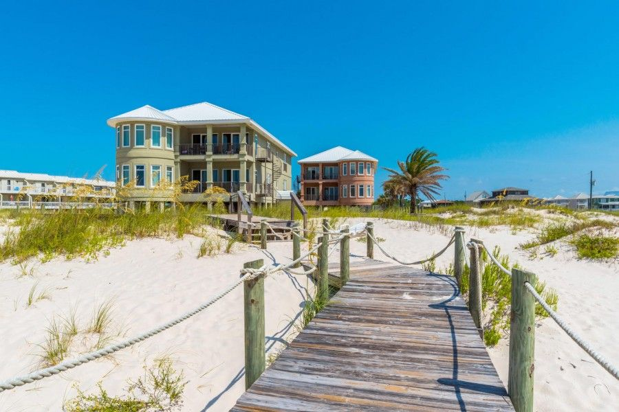 Gulf front vacation rental home in Fort Morgan, AL