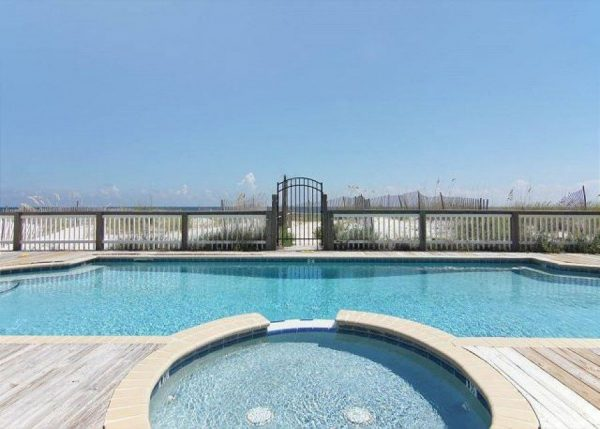 Gulf Shores beachfront vacation rental with pool