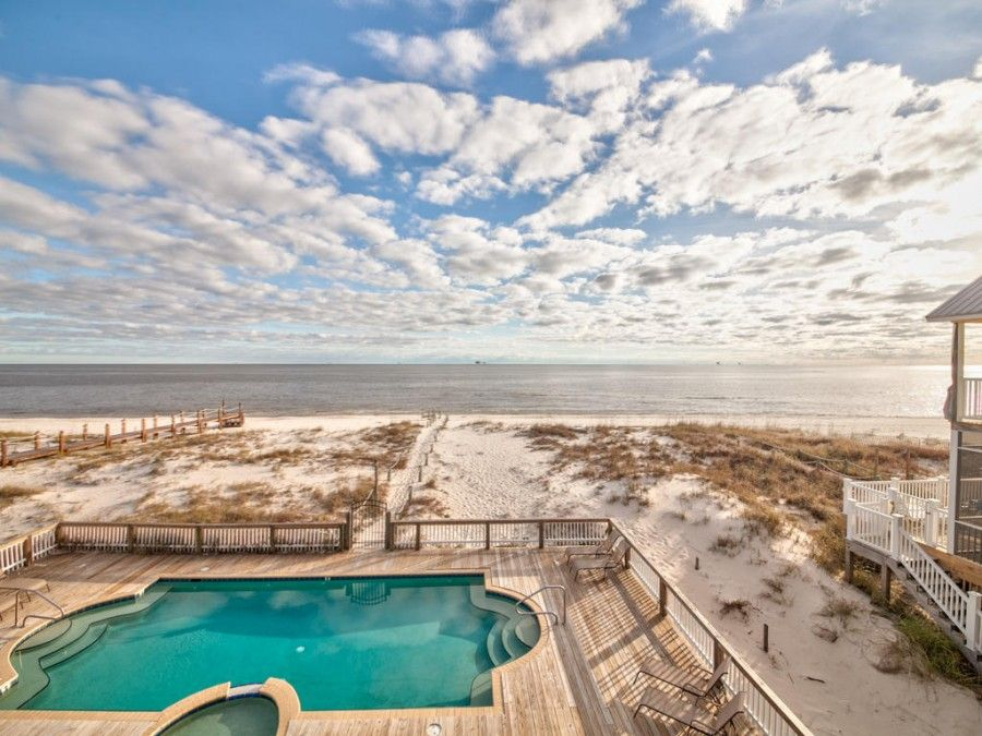 Gulf Shores vacation rental on the beach with a pool