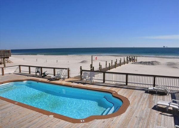 beachfront gulf shores homes for rent