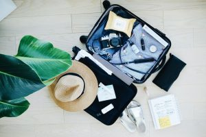 Suitcase Packed For An Alabama Beach Vacation