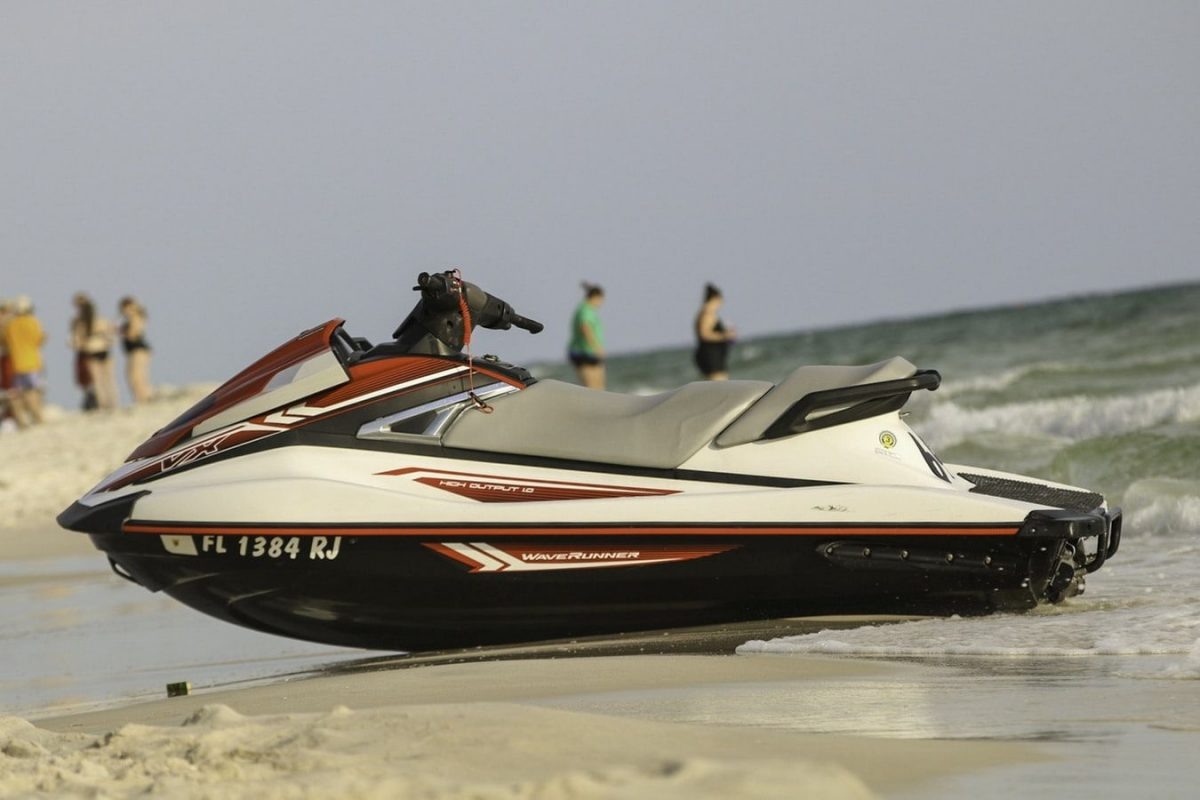 Jet ski rental on the beach
