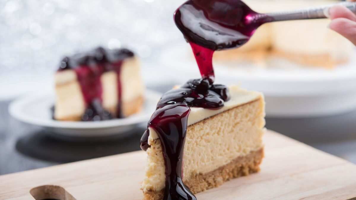 Delicious cheesecake near our Gulf Shores beach rentals