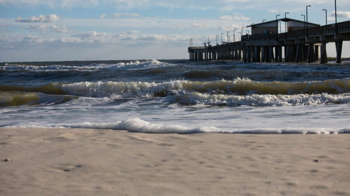 Gulf Shores State Park pier out on the water near our gulf shores gulf front rentals